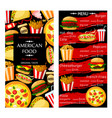 price menu for fast food restaurant vector image vector image