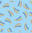 rainbow colorful seamless pattern vector image