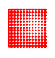 red square halfton shape abstract geometric vector image
