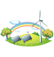 Renewable Energy Background vector image vector image