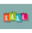 Sale poster with shopping bags vector image vector image