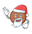 santa chocolate biscuit mascot cartoon vector image