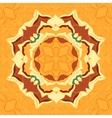 Seamless pattern tile with mandala in the center vector image vector image