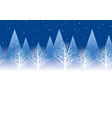 seamless winter forest background at night vector image