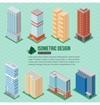 set 3d isometric tall buildings icons for map vector image