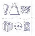 set doodle business management vector image