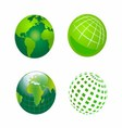 Set of Green Globe Icons vector image vector image
