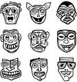 set of masks vector image vector image