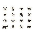 set wild animal figures and shapes vector image