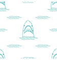 Shark seamless pattern hand drawn sketched doodle
