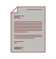 sheet document in colorful silhouette with thin vector image vector image