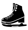 skates ice icon simple black style vector image vector image