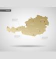 stylized austria map vector image