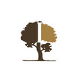 tree letter i vector image vector image