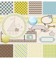 Vintage Design Elements for Scrapbook with vector image vector image