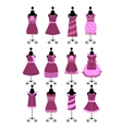 fashion dresses and hats vector image
