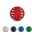 A set of logos balls tape red white black vector image vector image