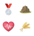 agriculture sport and other web icon in cartoon vector image vector image