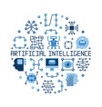 artificial intelligence flat round vector image