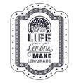 Attitude phrase about life inside frame design vector image vector image