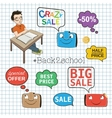 Back to school sale objects set vector image