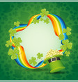 background for st patricks day vector image