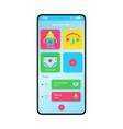 bamanager smartphone interface template vector image vector image