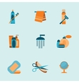 bathroom icons set vector image vector image