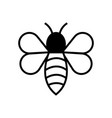 bee icon design template vector image