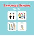 benefits abroad language school studying vector image