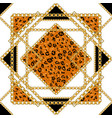 black and gold leopard isolated vector image