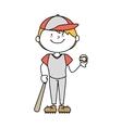 boy cartoon baseball happy isolated design vector image vector image