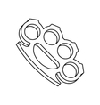 Brass knuckles icon outline style vector image