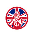 british cameraman union jack flag icon vector image vector image