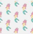 caticorn mermaid seamless pattern vector image vector image