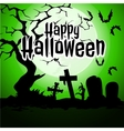 Cemetery and the sky green for Halloween vector image vector image