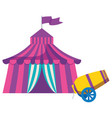 circus tent with canon vector image
