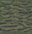 Classic tiger stripe camouflage seamless patterns vector image