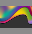 colorful liquid waves abstract background vector image vector image
