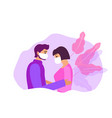 couple lovers guy and a girl in protective vector image vector image