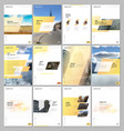 creative brochure templates with colorful gradient vector image vector image