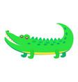 cute crocodile cartoon flat sticker or icon vector image vector image