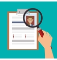 cv document paper isolated icon vector image