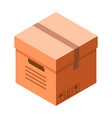 delivery cardboard box icon isometric style vector image