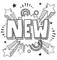 doodle pop new vector image vector image