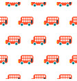 double decker red bus kid seamless pattern vector image