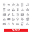 eating food restaurant menu family cafe tasting vector image vector image