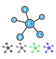 euro financial network links flat icon vector image vector image