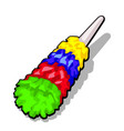 fluffy colorful duster brush to clean the dust vector image vector image