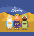 gaspar with melchior and balthazar to happy vector image vector image